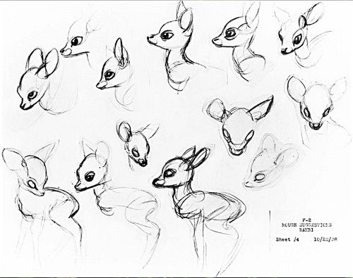 Walt Дисней Sketches - Bambi
