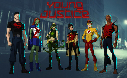 Justicia Joven fondo de pantalla probably containing a concierto titled Young Justice - The Team
