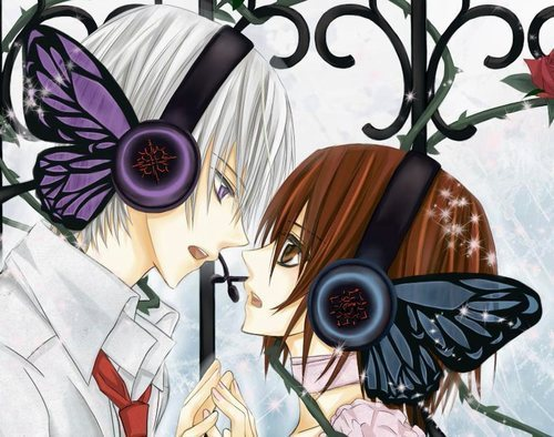 Vampire Knight wallpaper probably containing a bouquet titled Yuki and Zero Vocaloid Version
