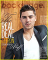 Zac Efron Covers 'Backstage' Magazine  - zac-efron photo