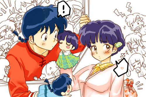 akane and ranma's adorable puppet Zeigen
