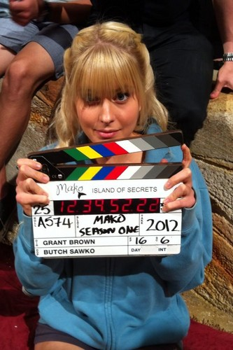 behind the scenes with amy - mako-mermaids Photo
