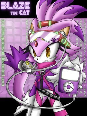 blaze and her ipod ^-^