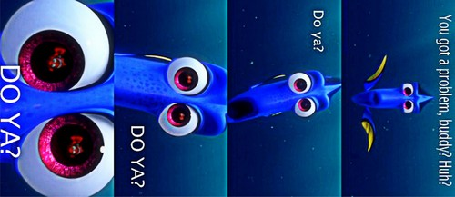 Disney achtergrond titled dory