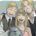 ed, al and winry  - full-metal-alchemist icon