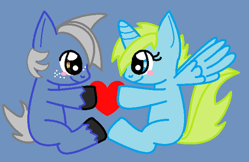 filly me and bryce as ponys