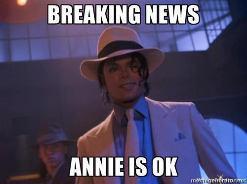 finally Mikey got an answer!Annie is Okay!!