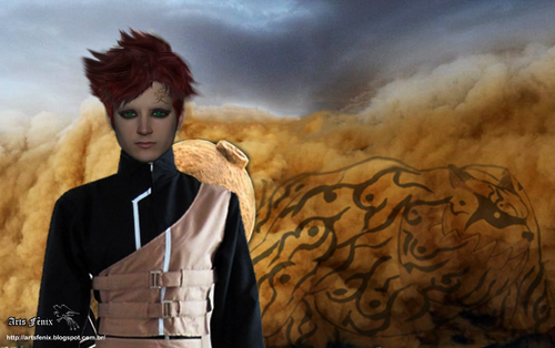 Gaara of Suna wallpaper possibly containing a tabard and a surcoat entitled gaara real