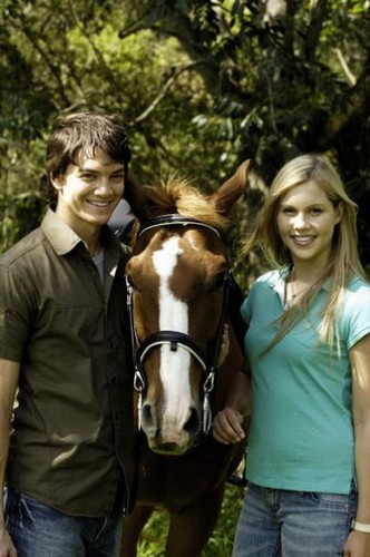 Movie Couples wallpaper with a horse trail, a dressage, and a horse wrangler titled h20 emma and ash