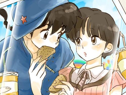 ranma and akane on a 日期