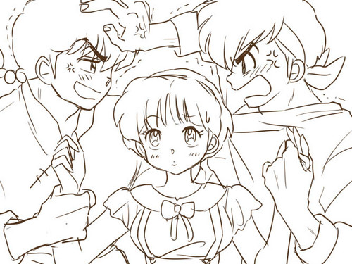 ranma and ryoga fight over akane! ^-^