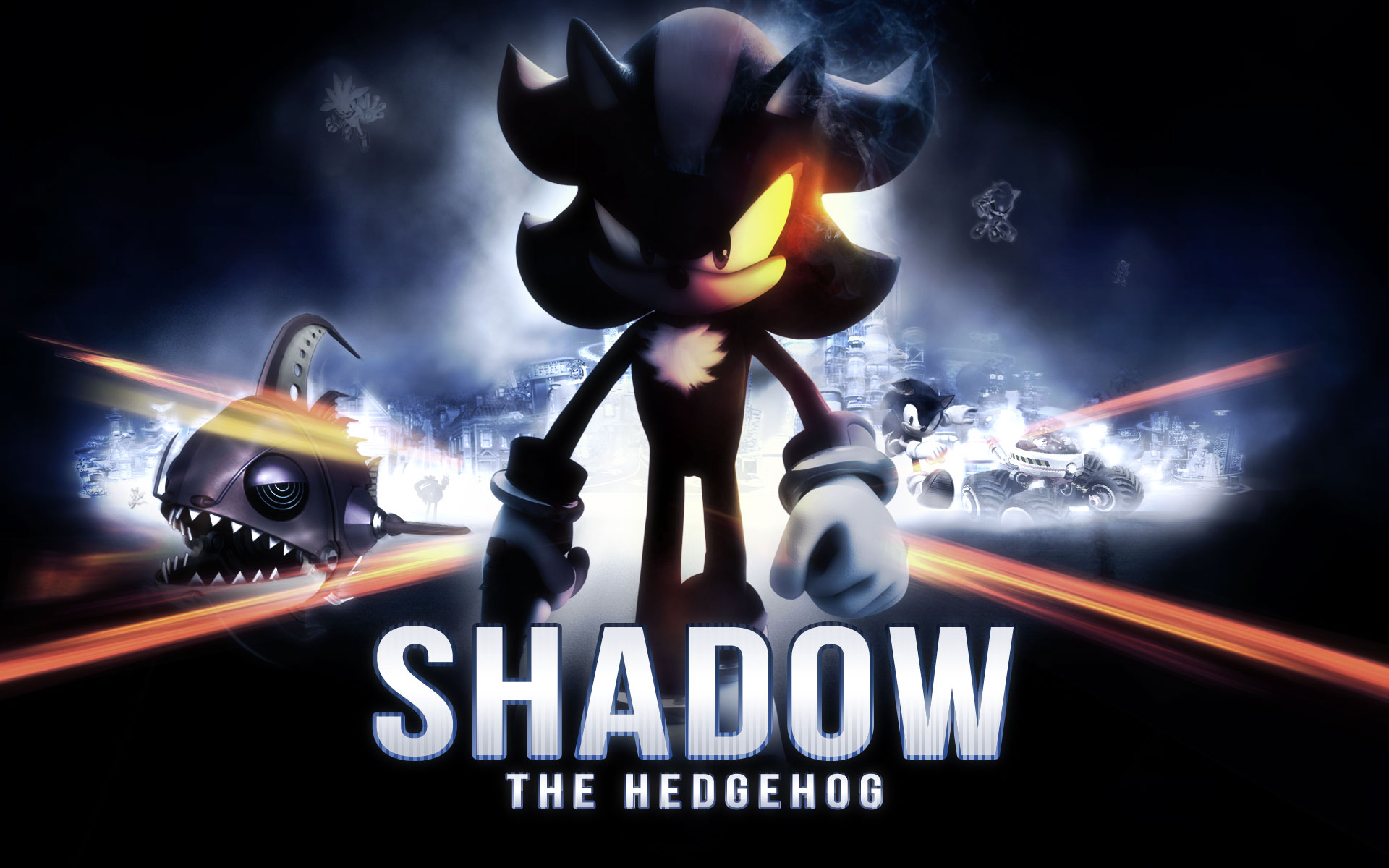 stay cool with Sonic and Shadow shadow the hedgehog battle field