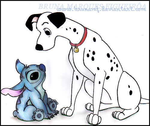 stitch and pongo