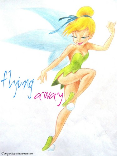 tinkerbell flying away