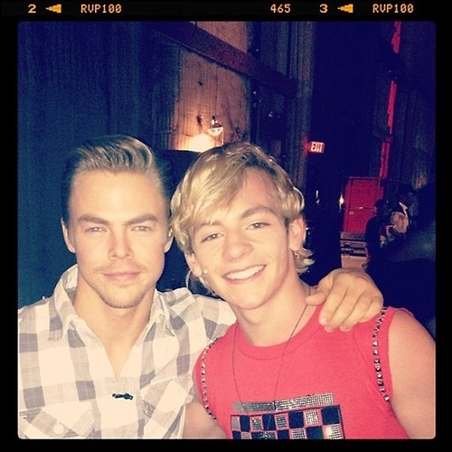 Ross Lynch wallpaper probably containing a sign and a portrait called ❤Ross Lynch & Derek Hough❤