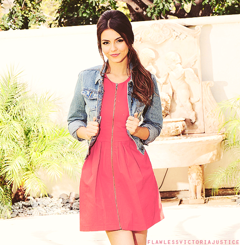 Victoria Justice wallpaper possibly with a frock, a dress, and a cocktail dress titled •victoria•