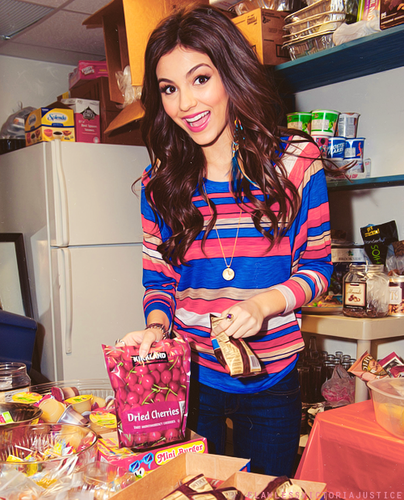 Victoria Justice wallpaper possibly with a sign and a newsstand entitled •victoria•