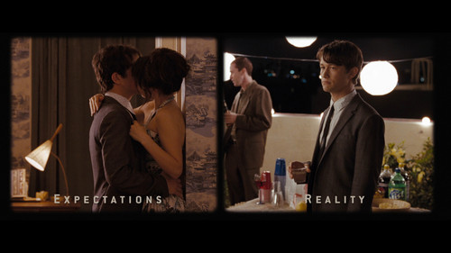 500 Days of Summer 壁纸 containing a business suit and a bridesmaid called 500 Days Of Summer