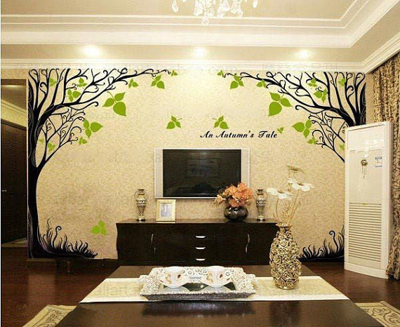 A Autumn 39 S Tale Tree Wall Sticker Home Decorating Photo