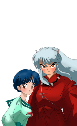 Akane and inuyasha _ Rumic crossover
