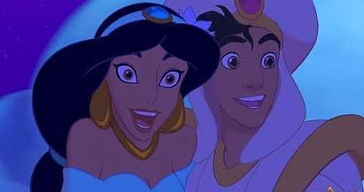Disney Couples wallpaper containing anime entitled Aladdin & Jasmine