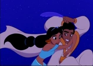 Disney Couples wallpaper possibly containing anime called Aladdin & Jasmine