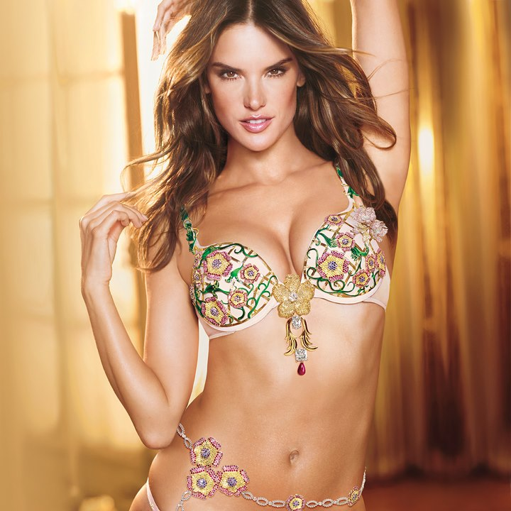 Victoria's Secret Angels Alessandra with the Floral Fantasy Bra