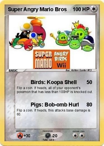 Angry Birds pokemon card