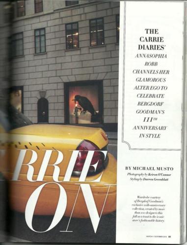 AnnaSophia - Magazine Scans - CBS Watch! October 2012
