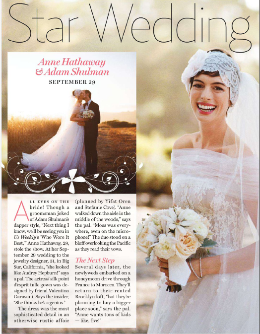 Anne Hathaway Wedding.Anne Hathaway Wedding Anne Hathaway Photo 32593434 Fanpop