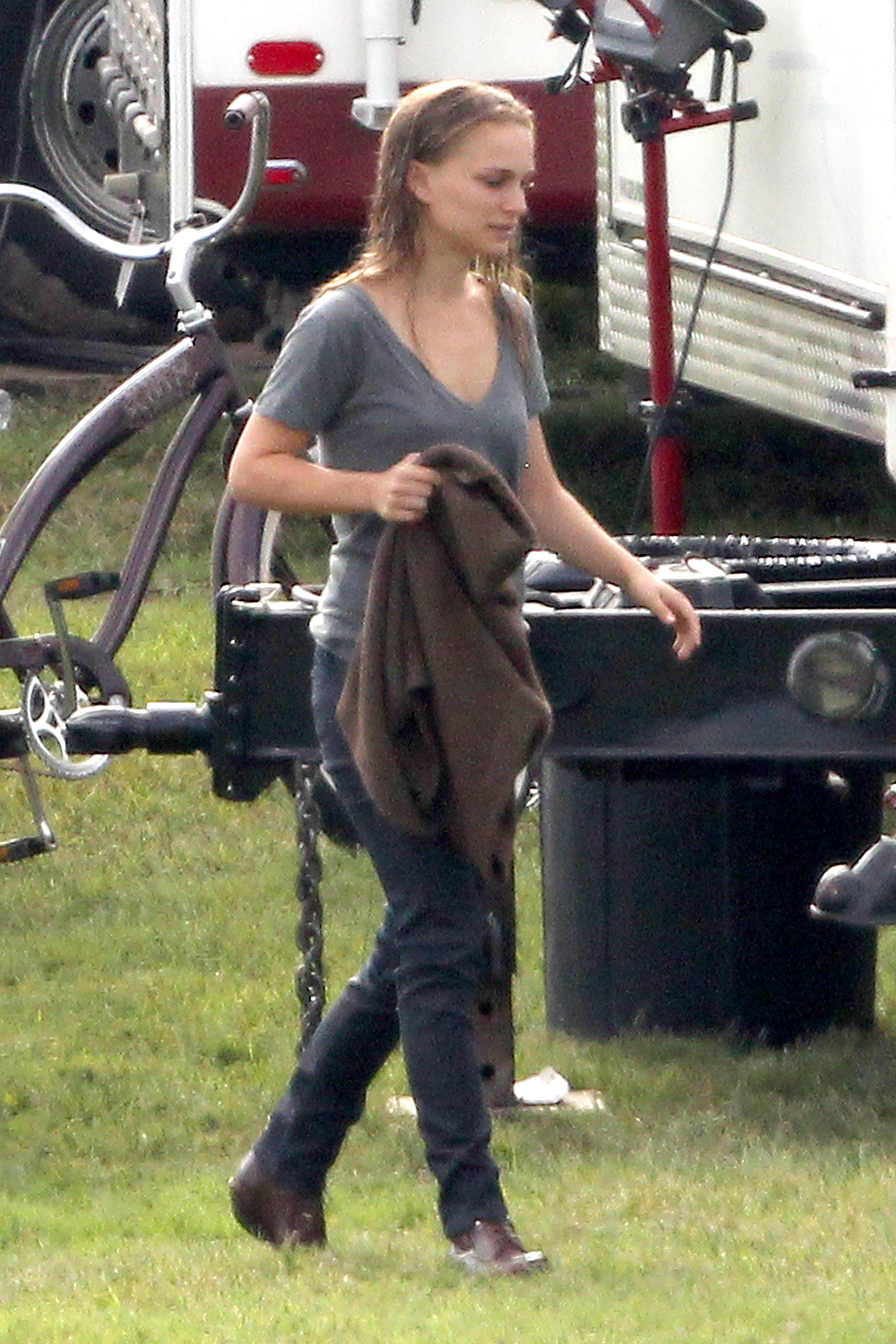 Arriving to the set in Austin, TX (October 20th 2012)