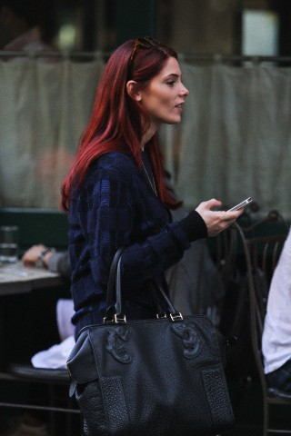 Ashley Greene shows off her NEW Red Hair While Having Lunch with Friends, In New York City October 2 - ashley-greene Photo