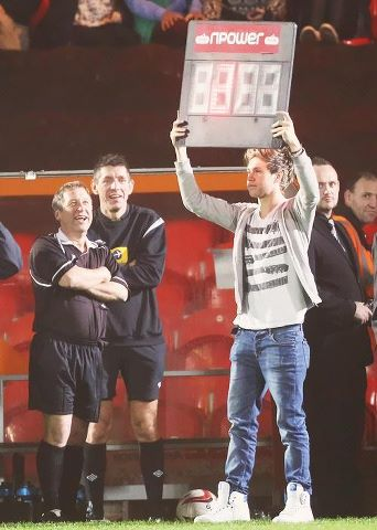 At Louis' charity match ♥
