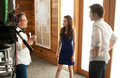 BD part 2 BTS-Kristen,Robert and director Bill Condon - twilight-series photo