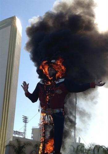 BIG TEX burning