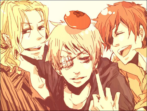 hetalia fondo de pantalla containing anime titled Bad Touch Trio