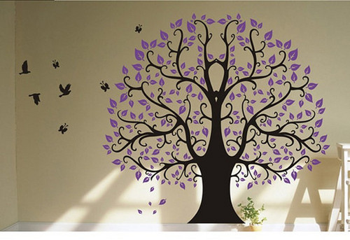 Home Decorating Wallpaper Probably Containing A Sign Titled Banyan Tree Wall Sticker
