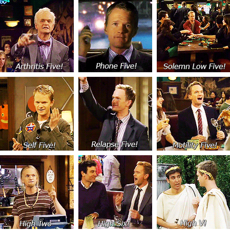 How I Met Your Mother wallpaper titled Barney High Five