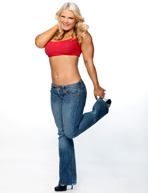 beth phoenix wallpaper probably containing bellbottom trousers called Beth Phoenix Photoshoot Flashback
