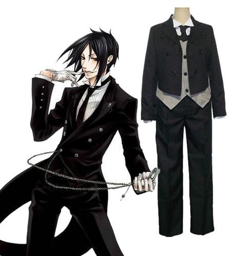 Black Butler 《黑执事》 Sebastian Michaelis Cosplay Costume