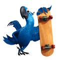 Blu with board