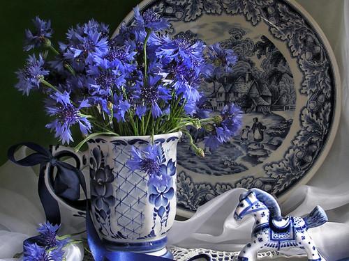 Blue फूल