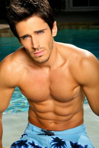 Hottest Actors wallpaper probably containing swimming trunks, a hunk, and skin called Brandon Beemer!