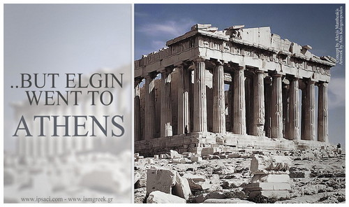 Greece wallpaper with an acropolis and a brownstone called But Elgin Went To Athens