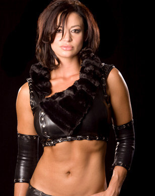 Candice Michelle Обои probably containing a hip boot called Candice Michelle Photoshoot Flashback