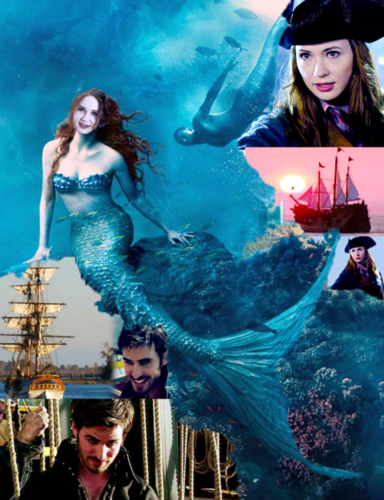 C'era una volta wallpaper titled Captain Hook & Ariel