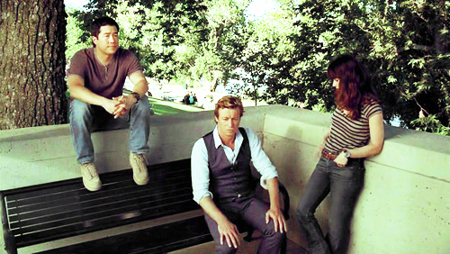 The Mentalist wallpaper possibly containing a hot tub, a sign, and a business suit entitled Cast