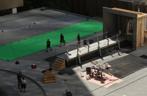 Catching Fire: Rooftop scene