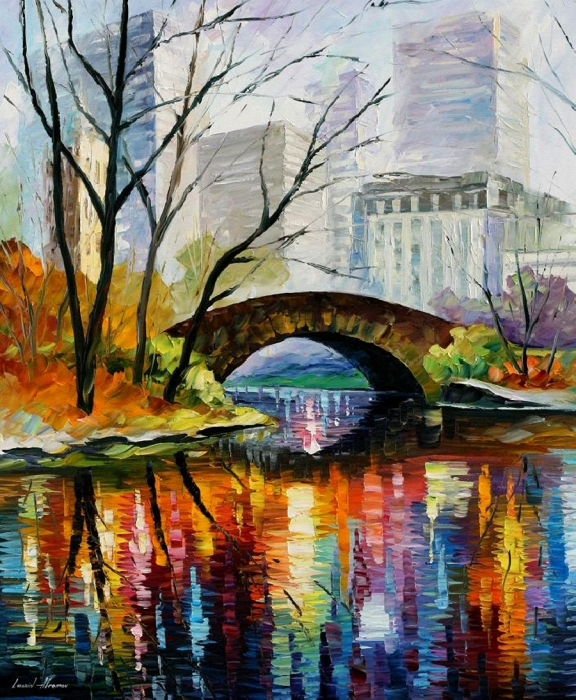 New York Painting Bridge Central Park images Ce...