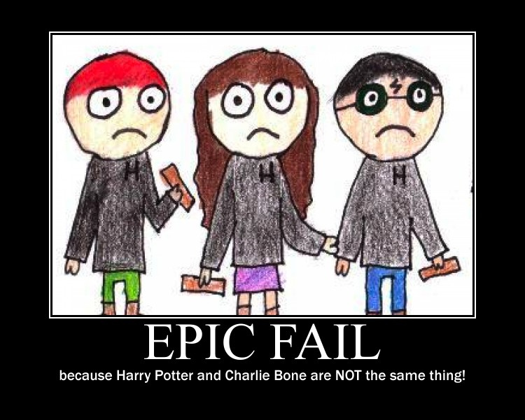 Charlie Bone pwns Harry Potter
